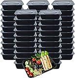 Ideal Swan [50 Pack] Meal Prep Boxen 1000ml 1Fach Food Prep Boxen Box Meal Prep Hergestellt aus BPA-freiem Kunststoff, Stapelbar, Mikrowellengeeignet, Gefrier- und Spülmaschinenfestv