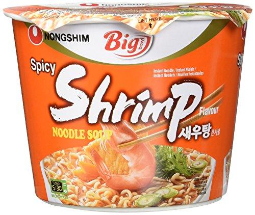 Nong Shim Instantnudeln Shrimp Big Bowl - Koreanische Ramen Suppe - schnelle Zubereitung - 1er Vorteilspack 115g