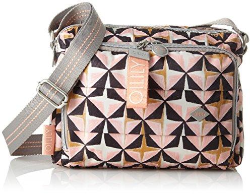 Oilily Damen Ruffles Geometrical Shoulderbag Shz 1 Schultertasche, Pink (Rose), 12x18x24 cm