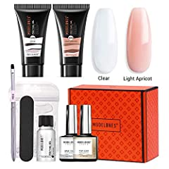 ❤ All IN ONE KIT: Big capacity with 30ml poly nail gel, 1*clear color+1*light apricot color, 1*10ml base coat, 1*10ml top coat, 1*15ml slip solution, 36PCS dual forms(12sizes*3PCS each), 1*mini brush to push the poly nail gel, 1*mini File, 1*package ...