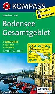 Bodensee Gesamtgebiet 1c GPS wp kompass: Wandelkaart 1:75 000 (German Edition)