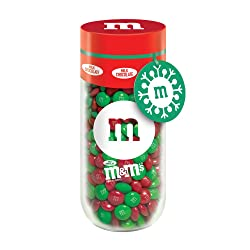 M&M'S Milk Chocolate Christmas Candy Gift 13-Ounce Jar