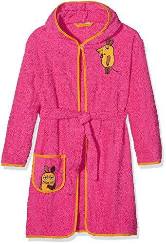 Playshoes Mädchen Frottee Maus Bademantel, Rosa (pink 18), 110/116