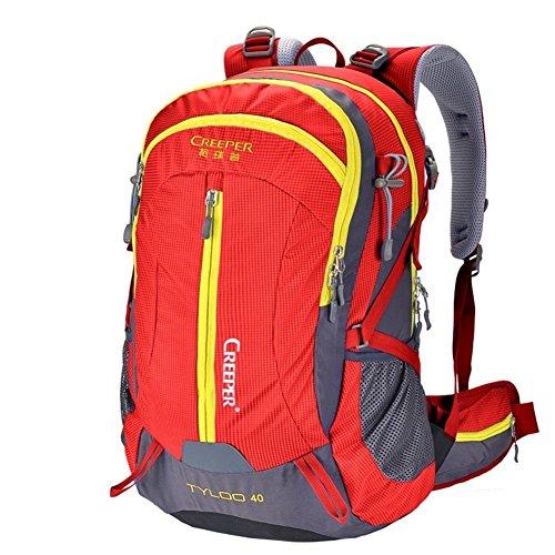 éclairage d'alpinisme/Sac extérieur étanche Sac à Dos/Sac à Dos randonnée/Camping Package-Red 50L