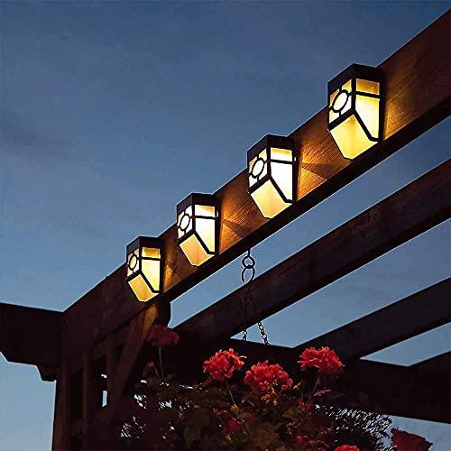 YNITJH Luces Solares para Exterior Jardín LED,Lámparas Solares Impermeable,Iluminación Exterior Solar,Utilizado para escaleras,jardín,Patio,Pared(4 Paquetes),warmlight