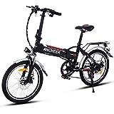 Ancheer VTTélectrique pliable E-Bike vélo électrique 250W Mountain Bike grande capacité Pedelec avec batterie et chargeur lithium 36V Noir (14 pouces / 20 pouces / 26 pouces) (20)