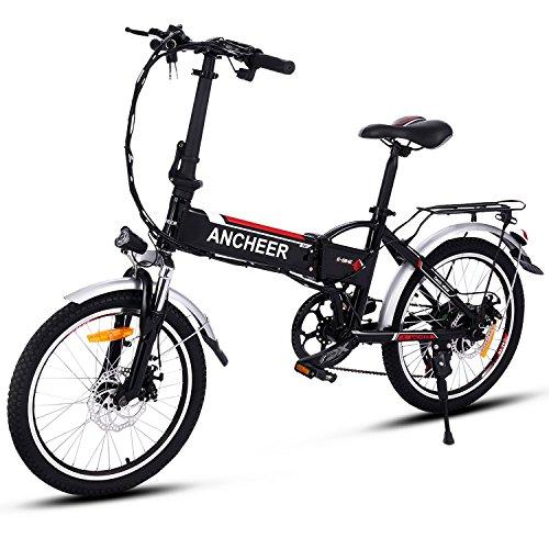 Ancheer VTTélectrique pliable E-Bike vélo électrique 250W Mountain Bike grande capacité Pedelec...