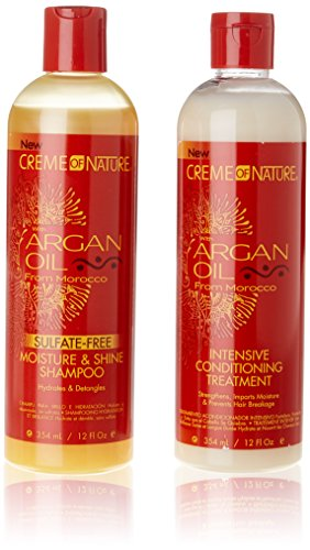 "Argan-Shampoo & Pflegespülung-Set ""Crème of Nature"", 354 ml"