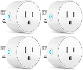Smart Home Plug by Hashblue - Compatible With Alexa Google Home and IFTTT - Remotely Control Your Home (4 pieces) - Monitor Your Devices From Smart Life App - Download App on iPhone and Android