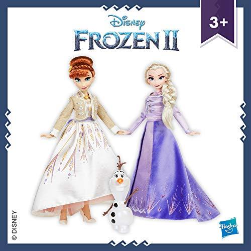 Disney Frozen Set di Fashion Doll di Elsa, Anna e Olaf con vestiti e scarpe, giocattolo ispirato a Disney Frozen 2