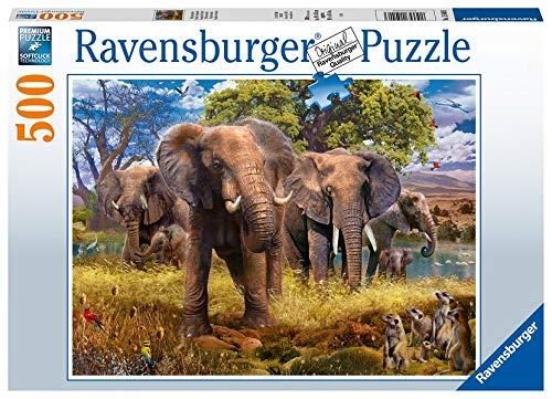 Elefantenfamilie Puzzle 500 Piezas, Multicolor (15040)