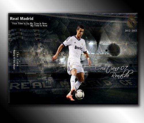 Leinwanddruck Cristiano Ronaldo Real Madrid Fußball, 76,2 x 50,8 cm, fertig zum Aufhängen