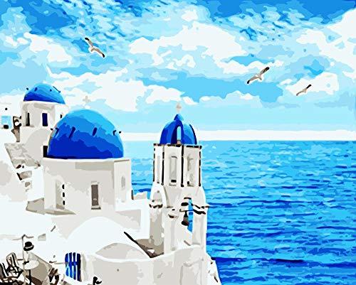 Rompecabezas Adultos 1000 Piezas Famosa casa Junto al mar Adultos niños Jigsaw Puzzles Juguetes Juego Educación Kit Wooden descompresión coleccionables Arte Decoración 70x50cm