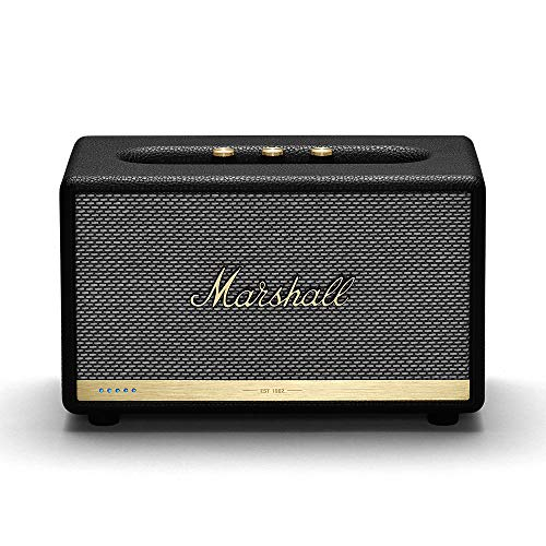 Marshall Acton II Wireless Wi-Fi Multi-Room Smart Speaker with Amazon Alexa Built-in, Black - New