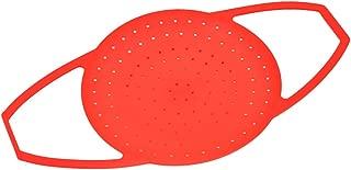 Besto nzon silicona Cocinar al vapor cazuelas Vaso Mango Vaporera con ajustable tamaño s (Rojo)