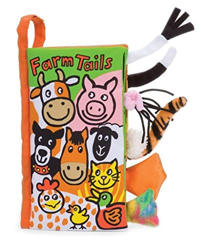 Jellycat Soft Cloth Baby Books, Farm Tails