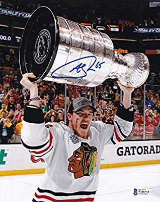 Beckett Andrew Shaw Autographed Signed Chicago Blackhawks 2013 Stanley Cup Celebration 8x10 Photo