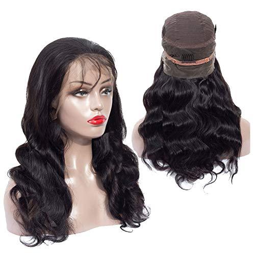 HmtAfro☛ 360 Perruque Cheveux brésiliens ondulés 135% Couleur naturelle