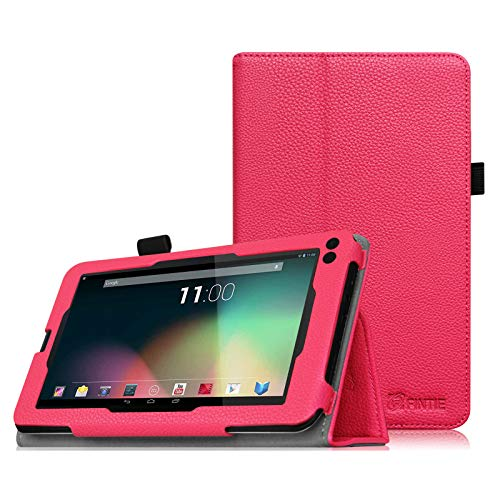 Fintie Case for RCA Voyager 7, Premium PU Leather Folio Cover for All Versions RCA Voyager 7' / Voyager II 7' / Voyager III RCA 7' / RCA Voyager Pro 7' Android Tablet, Magenta