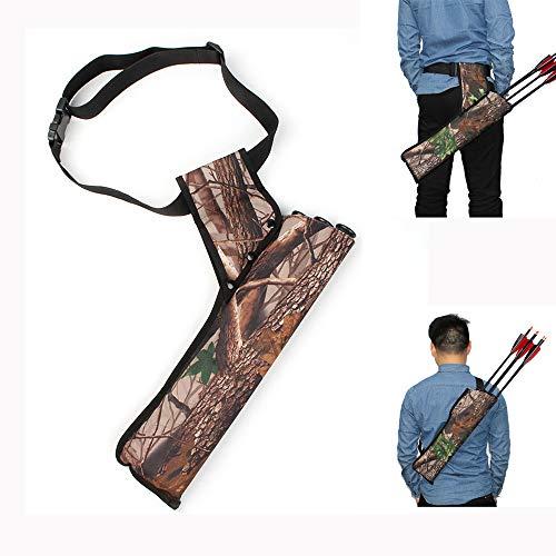 ZHXY 3 Tubes Hip Arrow Quiver Waist Hanged Carry Bag Oxford Cloth Hip Hunting Training Arrow Holder Réglable Bow Belt Target Quiver,Peut être porté sur Le Dos,porté sur la Taille,carquois,Camouflage