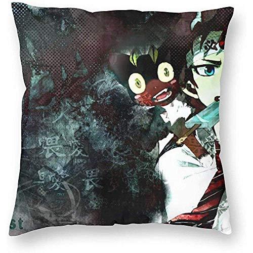 Tommy Warren Fundas de Almohada de Anime Exorcista Azul Fundas de Almohada de sofá Decorativo de otoño para sofá