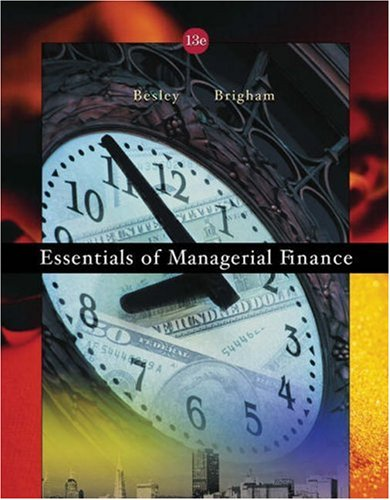 Download Essentials of Managerial Finance with Infotrac 0324258755