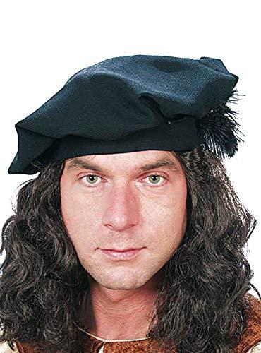 Bonnet: Béret, Moyen-âge, noir