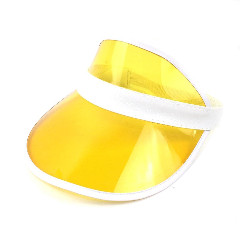 HUPLUE Plastic Transparent Sun Visor Clear Golf Visor Hat UV Protection Hat Cap Candy Color for Outdoor