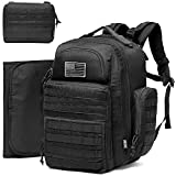 Diaper Bag Backpack for Dad, DBTAC Large Baby Nappy Bag for Men w/Changing Mat, Insulated+Wipe Pockets, Stroller Straps, Black