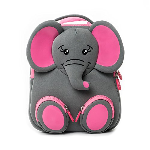 Kids Backpack, School Bags for Kids, Animal Backpack Nursery Bags Rucksack for Nursery Toddler Bag with Reins Kids Harness Bag by Cocomilo (Grey Elephant)