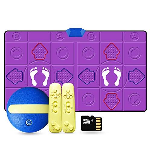 YLKCU Kindertanzmatten Tanzmatte, Dancing Step Pad, Tanzspiele Somatosensorisches Gamepad TV-Videospiele Yoga für Fitness Party Home