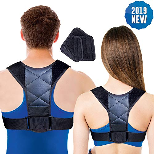 Ariella Posture Corrector for Women & Men, Back Brace, Adjustable Size, Pain Relief for Neck, Shoulder, Upper Back, Bad Posture, Thoracic Kyphosis, Clavicle Support