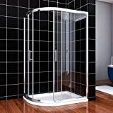 <span class='highlight'>ELEGANT</span> 1200x800mm <span class='highlight'>Left</span> <span class='highlight'>Offset</span> <span class='highlight'>Quadrant</span> <span class='highlight'>Shower</span> Enclosure 6mm Sliding Glass Cubicle Door with Tray and Waste