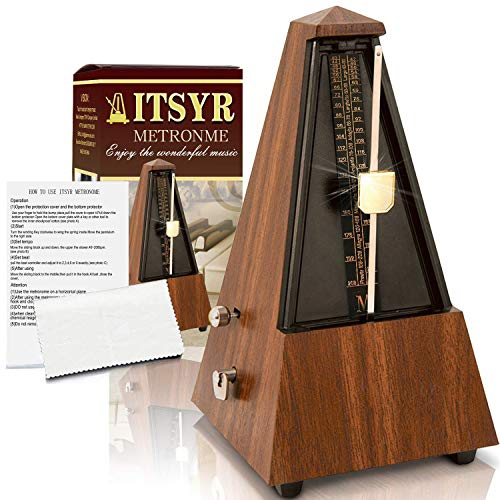 Accurate Mechanical Metronome For Musician Guitar Piano Drum Violin Track Beat And Tempo Teak wood Color
