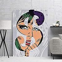 ポスターと版画 写真北欧ポスターお金美容絵画家の装飾アートTableaupeinture Surtoile 20x30inch
