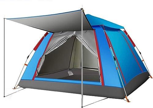 CCLAY 2-4 Personne Pop Up Tente épaissie Anti-tempête Sports Camping Randonnée Tente de Voyage avec Sac de Transport