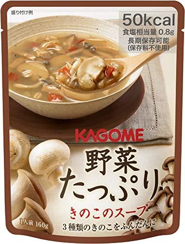 カゴメ 野菜たっぷり きのこのスープ 160g ×6袋