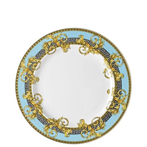 Versace Plato llano, 101/2pulgadas | Prestige Gala Le Bleu | se puede lavar en lavavajillas.