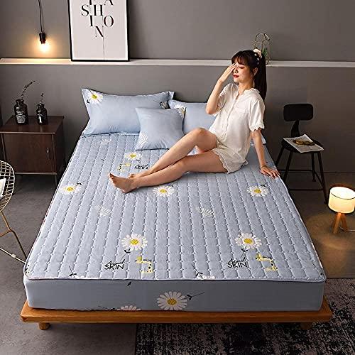 XGguo Protector de colchón, algodón, poliéster, Sábana Gruesa de una Sola Pieza a Prueba de Polvo -10_1.2 * 2.0m
