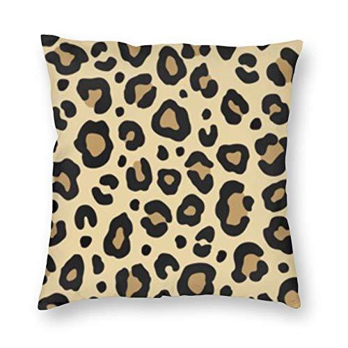 BONRI Leopard Classic Fashion Square Pillow - Almohada cuadrada de 55,8 x 55,8 cm, decoración de almohada cuadrada, descanso cómodo y relajante, compañerismo cálido