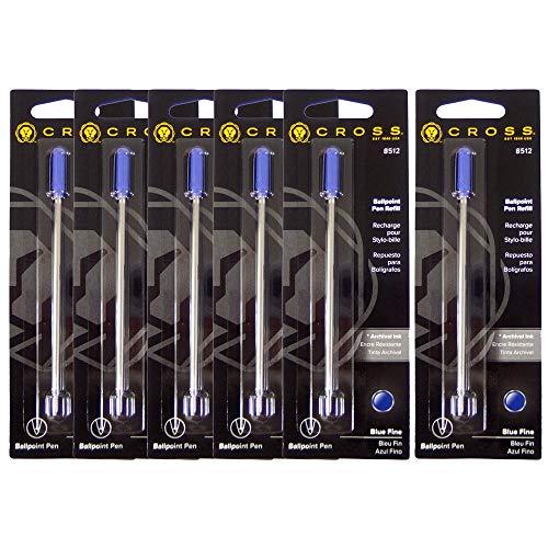 クロス CROSS ボールペン 替え芯 替芯 リフィル 油性 F 細字 0.8mm ブルー 8512 6本セット [並行輸入品]
