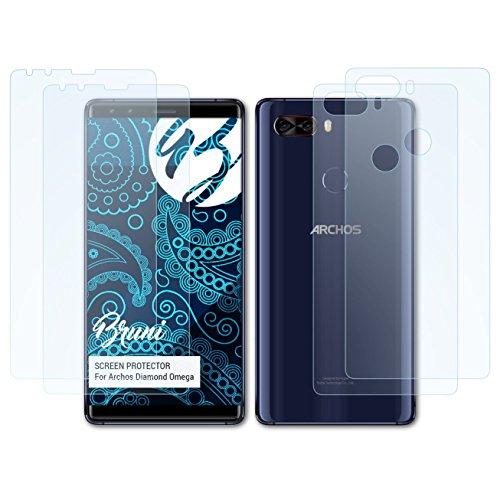Bruni Schutzfolie kompatibel mit Archos Diamond Omega Folie, glasklare Bildschirmschutzfolie (2er Set)