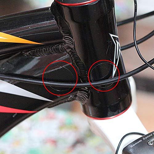 Lobboy 15 PCS/Lot Fahrrad-Rahmen-Rück Gabeln Schutz Sport Fahrrad Kettenstrebenrahmenprotektor Kit Bike Aufkleber Paster Schutz (Color : 1 Lot Transparent)