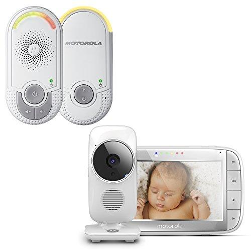 "Motorola Baby Monitor Bundle MBP 8 + MBP 48   Audio baby monitor con luce notturna + Video baby monitor con schermo LCD da 5.0"""