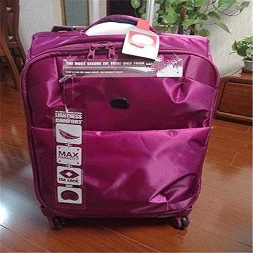 SFBBBO luggage suitcase Ultra-light trolley suitcase waterproof rolling luggage boarding box fashion travel suitcase on wheel 24' purple