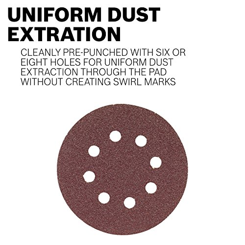 Bosch SR5R320 5-Piece 320 Grit 5 In. 8 Hole Hook-And-Loop Sanding Discs