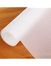 食器棚シート 45*500cmキャビネットシェルフシェルフライナーシンクマット接着剤不要 裁断可能 EVA 耐熱、滑り止め、防湿、防油 食器棚/引き出し/キッチンに適用家具保護(透明)