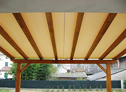 VERDELOOK Telo copertura vela 2.8x5.8m beige per pergola legno 3x6m