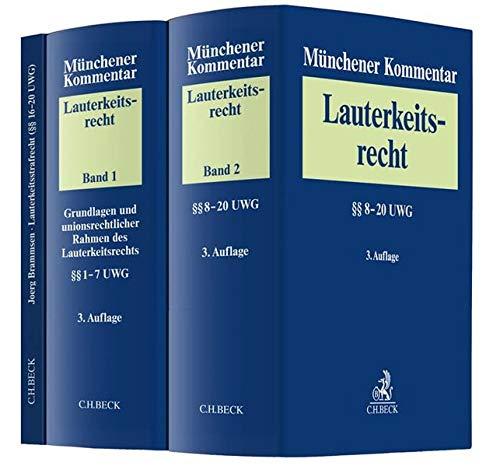 Münchener Kommentar zum Lauterkeitsrecht (UWG) Gesamtwerk: In 2 Bänden: In 2 Bnden