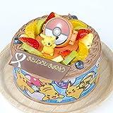 キャラデコお祝いケーキ ポケットモンスター 5号 15cm チョコクリームショートケーキ